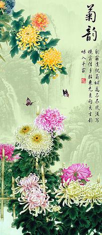 菊韵图装饰画