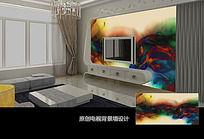 墨迹抽象图案电视背景墙