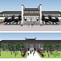 校园建筑SU模型