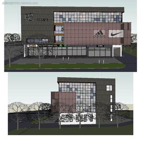 中式风格商业建筑SU模型