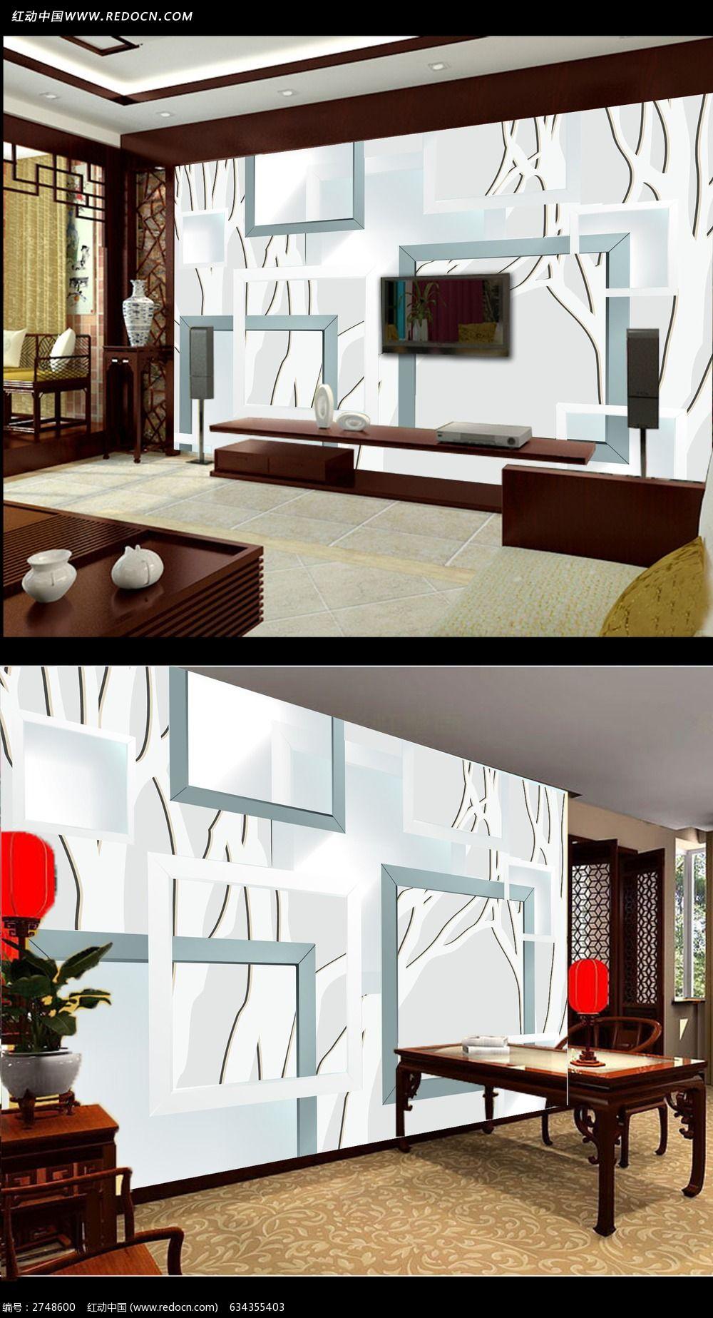 手绘花朵3d电视背景墙