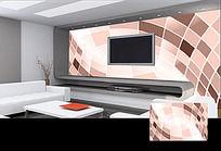 瓷砖方块立体空间背景墙