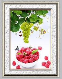 新鲜诱人水果餐厅装饰画
