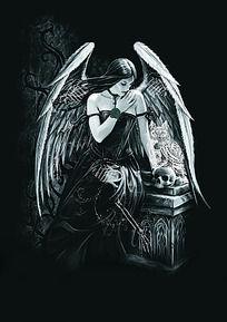 忧郁的天使T恤印花