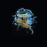 拯救世界的海龟印花图案