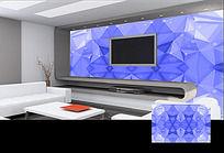 紫蓝色几何图案背景墙