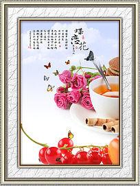 蝶恋花餐厅装饰画