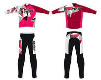炫酷骑行服设计 PSD