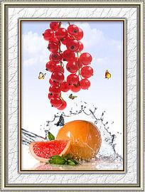 新鲜水果餐厅装饰画