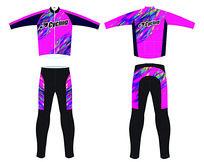 紫色迷彩骑行服 PSD