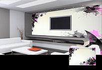水墨风抽象图案背景墙
