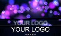 动态光斑logo文字片头ae模板