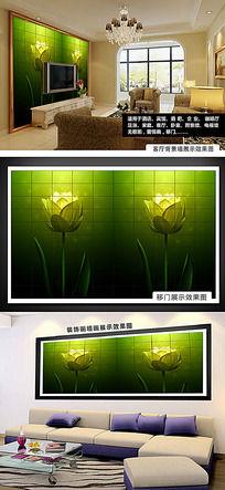 浪漫花朵唯美高清电视背景墙