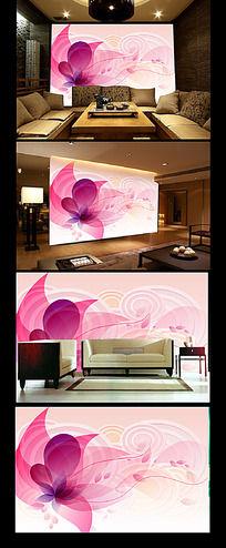 8款 梦幻花朵电视墙背景模板