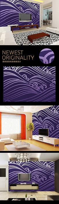 11款 中国风手绘电视背景墙