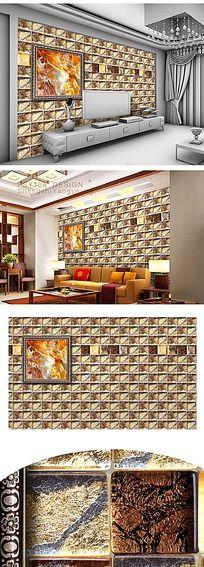 金色大理石电视背景墙纸