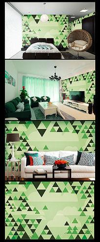 森林抽象背景墙图案设计