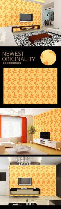 时尚花纹现代高档电视背景墙