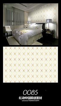 素雅图案卧室背景墙图案设计