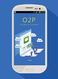 O2P电商模式手机广告
