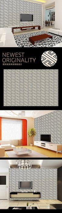 中国元素传统回纹图案背景墙