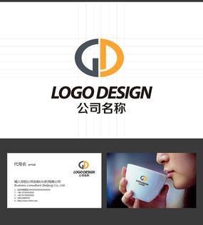 GD字母LOGO设计