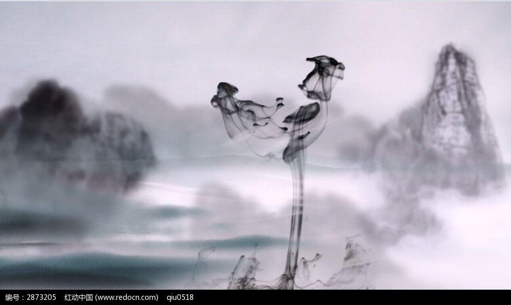 中国风企业视频水墨素材片尾_视频视频/片头片申论片头v企业图片