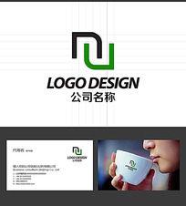 N字母LOGO标志设计