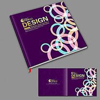 紫色时尚画册封面