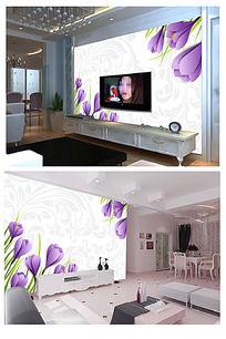 10款 花纹粉色背景墙图片