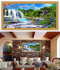 山水風景畫客廳裝飾畫