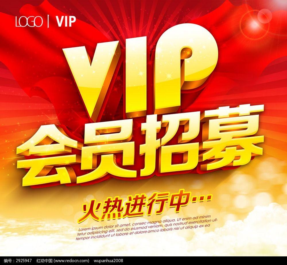 vip会员招募活动海报设计模板下载(编号:2925947)