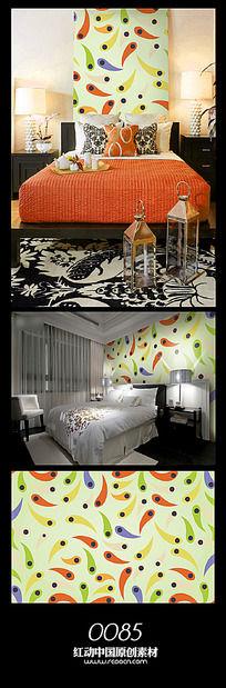 彩色动感背景墙图案设计