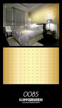 金色华丽背景墙图案设计