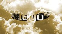 金色大门开启LOGO演绎AE模板