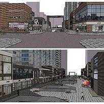 商业街改造设计SU模型 其他