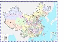 中国地图全国县市详细地图