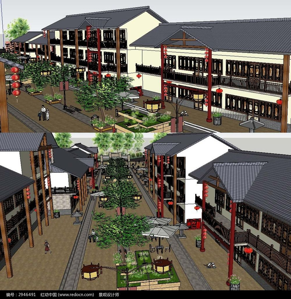 sketchup模型 中式su模型图片