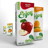 苹果菠萝果汁包装设计
