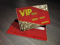 红色金色VIP会员卡