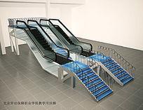 手扶电梯3D效果图