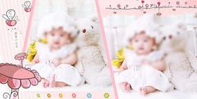 可爱的宝宝影集相册模板 TIF