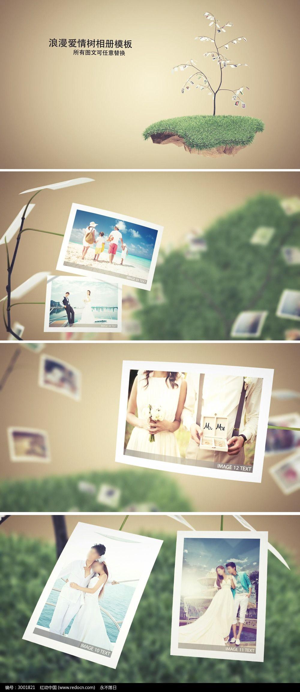 浪漫婚礼家庭电子相册模板图片