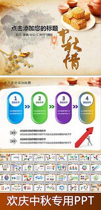 中国风中秋情动态PPT模版
