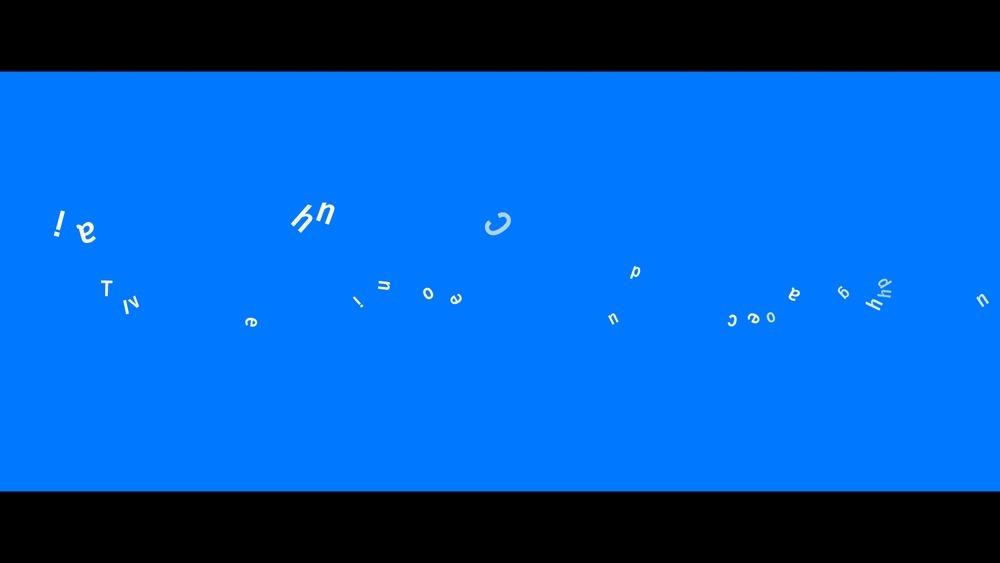 蓝色英文文字聚散动画ae模板