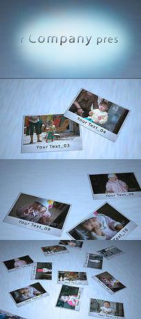 散落着的欢乐旅行记忆AE相片模板