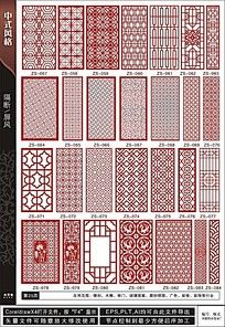 中式风格家居装饰板图形