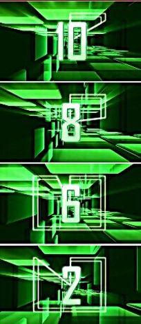 科技感绿色穿梭背景倒计时视频素材另含无数字的纯背景绿色倒计时