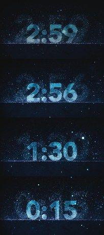 蓝色粒子雨雪3分钟倒计时