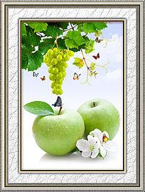 餐厅苹果装饰画